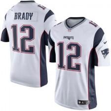Hombres New England Patriots Tom Brady Nike Blanco/Marino Azul limitada NFL Tienda Camisetas