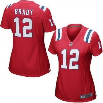 da60b435a5d74 Mujeres New England Patriots Tom Brady Nike Rojo Juego NFL Tienda Camisetas