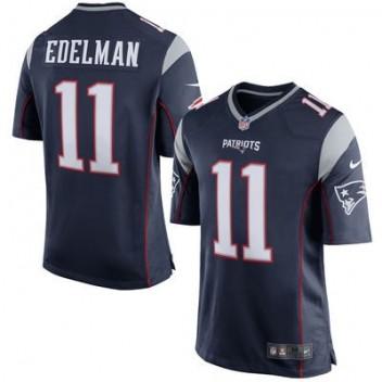 Jóvenes New England Patriots Julian Edelman Nike Marino Azul Equipo Color Juego  NFL Tienda Camisetas 633608bf4b9