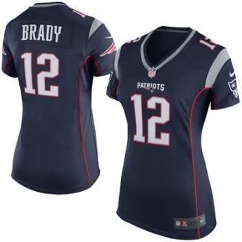 de263abf2730f Mujeres New England Patriots Tom Brady Nike Marino Azul Juego NFL Tienda  Camisetas