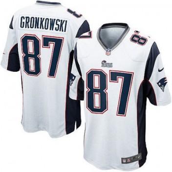 Hombres New England Patriots Roban Gronkowski Nike Blanco Elite NFL Tienda  Camisetas 6afa42d1cdf