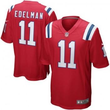 Hombres New England Patriots Julian Edelman Nike Rojo alternativo Juego NFL Tienda Camisetas