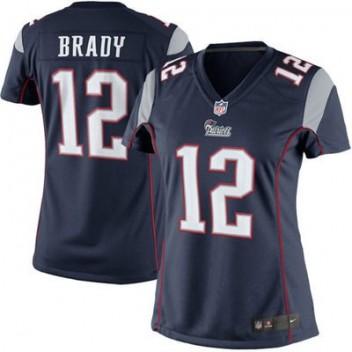 2a55c5ce9a32e Mujeres New England Patriots Tom Brady Nike Marino Azul limitada NFL Tienda  Camisetas