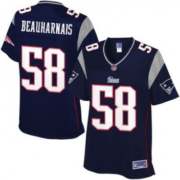 Pro línea Mujeres New England Patriots Steve Beauharnais Equipo Color NFL Tienda Camisetas