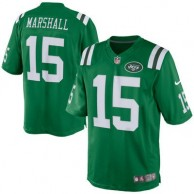 Men's New York Jets Brandon Marshall Nike Green Color Rush Limited Jersey