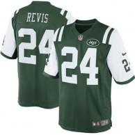 Men's New York Jets Darrelle Revis Nike Green Team Color Limited Jersey