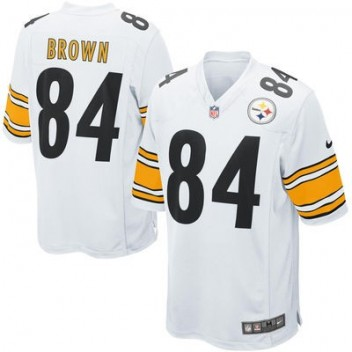 Hombres Pittsburgh Steelers Antonio Brown Nike Blanco Juego NFL Tienda  Camisetas 4515aca7774