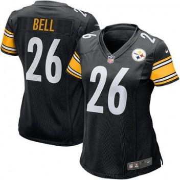 Mujeres Pittsburgh Steelers Le'Veon Bell Nike Negro Juego NFL Tienda Camisetas