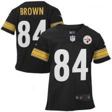 Toddler Pittsburgh Steelers Antonio Brown Nike Black Game Jersey
