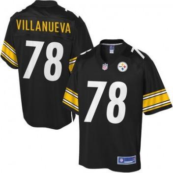 Hombres Pittsburgh Steelers Alejandro Villanueva Pro línea Equipo Color NFL Tienda Camisetas