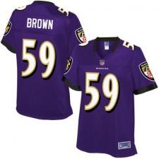 Pro Line Women's Baltimore Ravens Arthur Brown Team Color Jersey