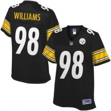 Pro Line Women's Pittsburgh Steelers Vince Williams Team Color Jersey - Black