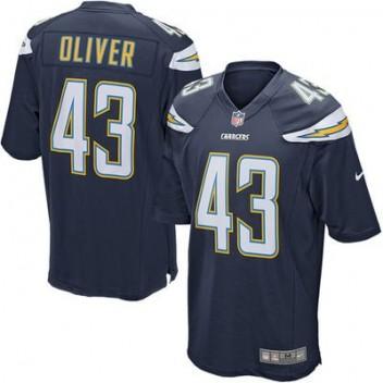 3ef32325e4712 Hombres San Diego Chargers Branden Oliver Nike Marino Azul Juego NFL Tienda  Camisetas