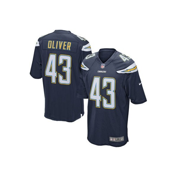 3d39a66ae59dd ... Juego NFL Tienda Camisetas. Youth San Diego Chargers Branden Oliver Nike  Navy Blue Team Color Game Jersey