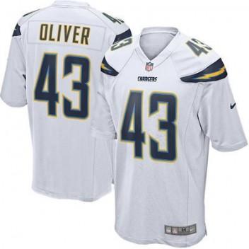 8784be50cbc03 Hombres San Diego Chargers Branden Oliver Nike Blanco Juego NFL Tienda  Camisetas