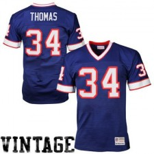 Mens Buffalo Bills Thurman Thomas Mitchell & Ness Royal Blue Retired Player Vintage Replica Jersey