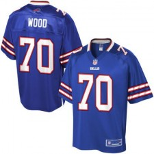 Pro Line Men's Buffalo Bills Eric Wood Team Color Jersey