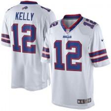 Men's Buffalo Bills Jim Kelly Nike White Retired Player Limited Jersey