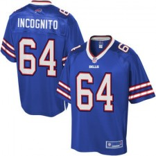 Men's Buffalo Bills Richie Incognito Pro Line Team Color Jersey