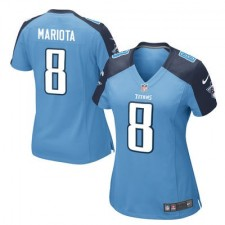 Women's Tennessee Titans Marcus Mariota Nike Light Blue 2015 Alternate Game Jersey