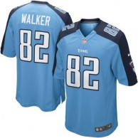 Men's Tennessee Titans Delanie Walker Nike Light Blue Alternate Game Jersey