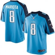 Men's Tennessee Titans Marcus Mariota Nike Light Blue Alternate Limited Jersey