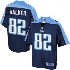 Men's Tennessee Titans Delanie Walker Pro Line Navy Team Color Jersey
