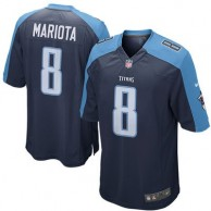 Men's Tennessee Titans Marcus Mariota Nike Navy 2015 Game Jersey