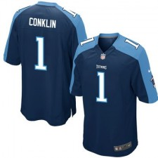 Men's Tennessee Titans Jack Conklin Nike Navy 2016 Draft Pick Game Jersey