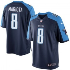 Men's Tennessee Titans Marcus Mariota Nike Navy Limited Jersey