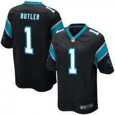 Men's Carolina Panthers Vernon Butler Nike Black 2016 Draft Pick Game Jersey