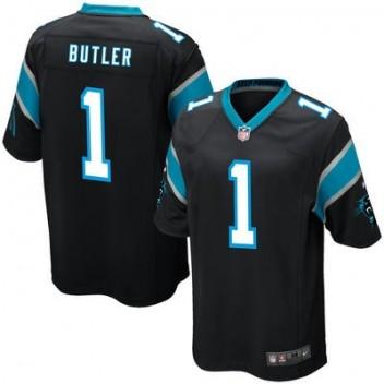 Hombres Carolina Panthers Vernon Butler Nike Negro 2016 proyecto Pick Juego NFL Tienda Camisetas