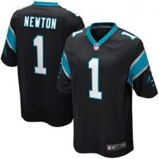 Mens Carolina Panthers Cam Newton Nike Black Game Jersey