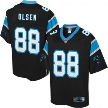 Hombres Carolina Panthers Greg Olsen Pro línea grande # alto Equipo Color NFL Tienda Camisetas