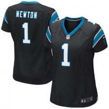 Women's Carolina Panthers Cam Newton Nike Black Game Jersey