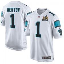 Men's Carolina Panthers Cam Newton Nike White Super Bowl 50 Bound Game Event Jersey