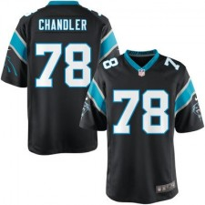 Nike Youth Carolina Panthers Nate Chandler Team Color Game Jersey