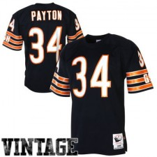 Mens Chicago Bears Walter Payton Mitchell & Ness Navy Blue 1985 Authentic Throwback Jersey