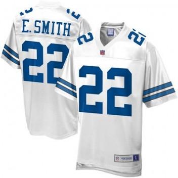 Hombres Pro línea Dallas Cowboys Emmitt Smith Jubilado jugador NFL Tienda Camisetas