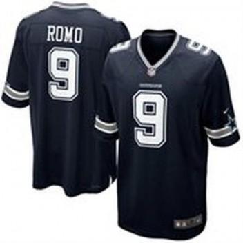 Hombres Dallas Cowboys Tony Romo Nike Marino Azul Equipo Color Juego NFL Tienda Camisetas