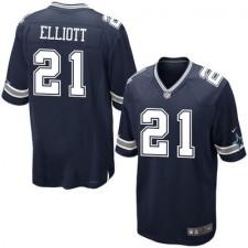 Men's Dallas Cowboys Ezekiel Elliott Nike Navy 2016 Draft Pick Game Jersey