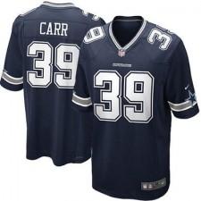 Men's Dallas Cowboys Brandon Carr Nike Navy Blue Team Color Game Jersey