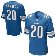 Mens Detroit Lions Barry Sanders Nike Blue Retired Player Game Jersey