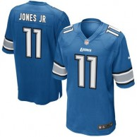 Men's Detroit Lions Marvin Jones Jr Nike Blue Game Jersey