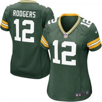 d7ed6c89f Mujeres Verde Bay Packers Aaron Rodgers Nike Verde Juego NFL Tienda  Camisetas