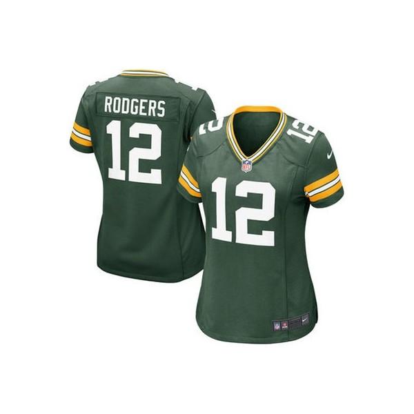 ... Verde Juego NFL Tienda Camisetas. Women s Green Bay Packers Aaron  Rodgers Nike Green Game Jersey b578637c5ba