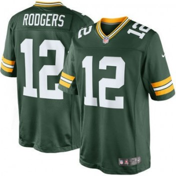 3244c28c5 Hombres Verde Bay Packers Aaron Rodgers Nike Verde Equipo Color limitada NFL  Tienda Camisetas