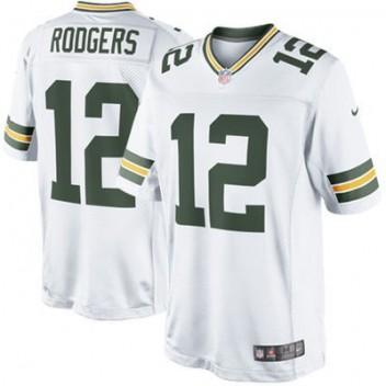 ee1f39ad4 Hombres Verde Bay Packers Aaron Rodgers Nike Blanco limitada NFL Tienda  Camisetas