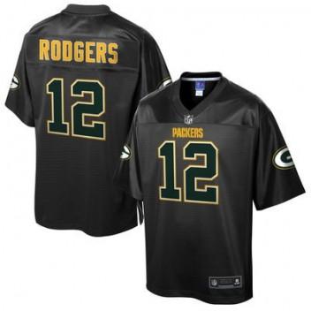 11619f252 Hombres Verde Bay Packers Aaron Rodgers Pro línea Negro Reverse modaon NFL  Tienda Camisetas
