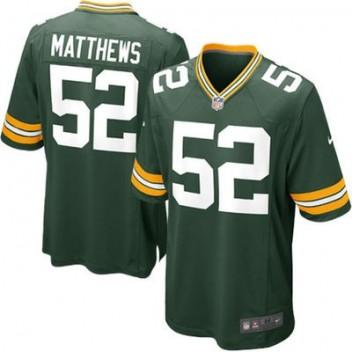 Hombres Verde Bay Packers Clay Matthews Nike Verde Juego NFL Tienda Camisetas